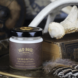 4 oz Soy Candle - Immortal (blood orange and vetiver)
