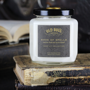 9 oz Soy Candle - Book of Spells (ancient book and secret ritual)
