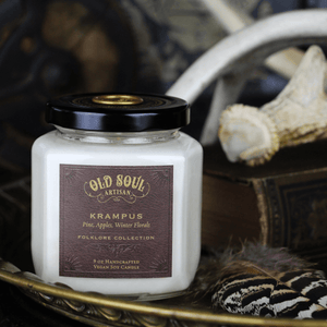 9 oz Soy Candle - Krampus (pine, apples, winter florals)