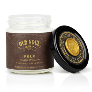 4 oz Soy Candle - Pele (pineapple, orchid, fire) - Old Soul Artisan