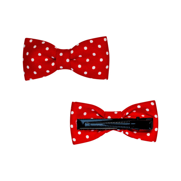 bow mini red for girls