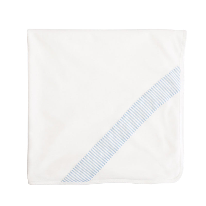 A white reversible blanket