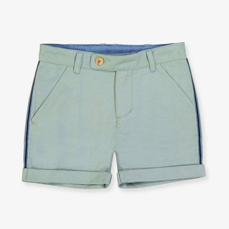 Celadon green shorts