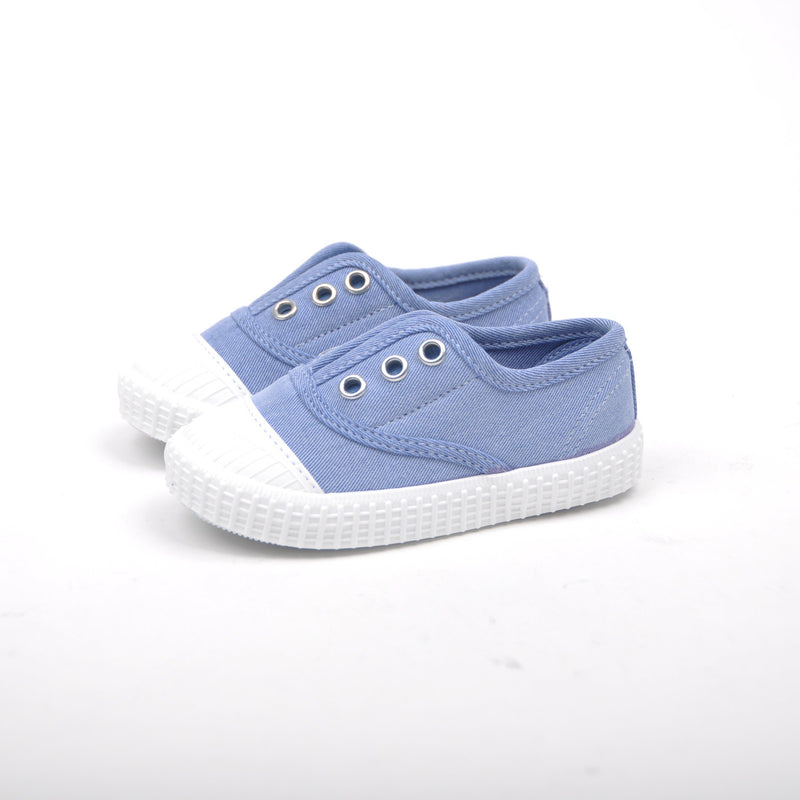 Light blue sneakers