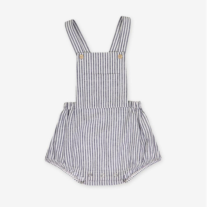 A grey stripes romper