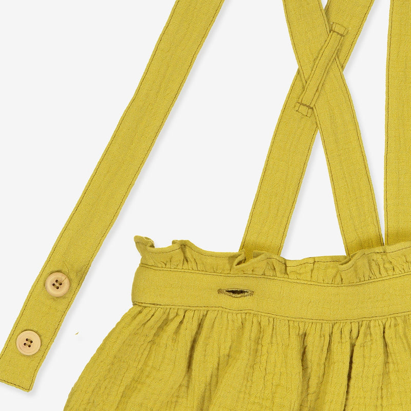 zoomed yellow organic skirt