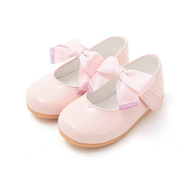 Baby pink ballerinas with ribbon