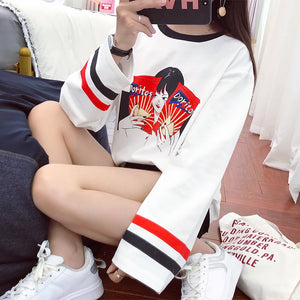 Harajuku Ulzzang Cartoon Sweatshirt