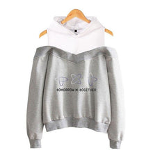 Load image into Gallery viewer, TXT Off-Shoulder Hoodie