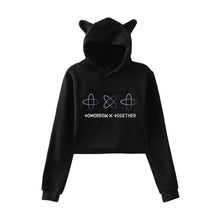 Load image into Gallery viewer, TXT Kawaii Cropped Hoodie
