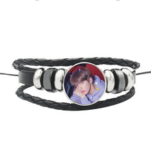 Load image into Gallery viewer, TXT Leather Snap Button Bracelet