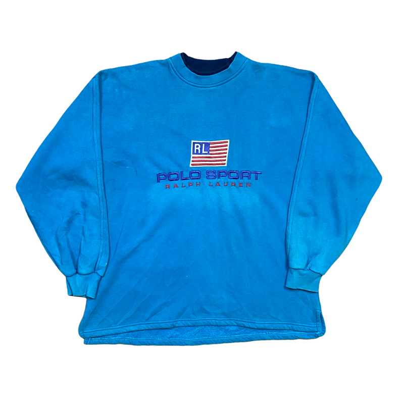 Vintage Bootleg Polo Sport Spell Out Sweatshirt (XL)