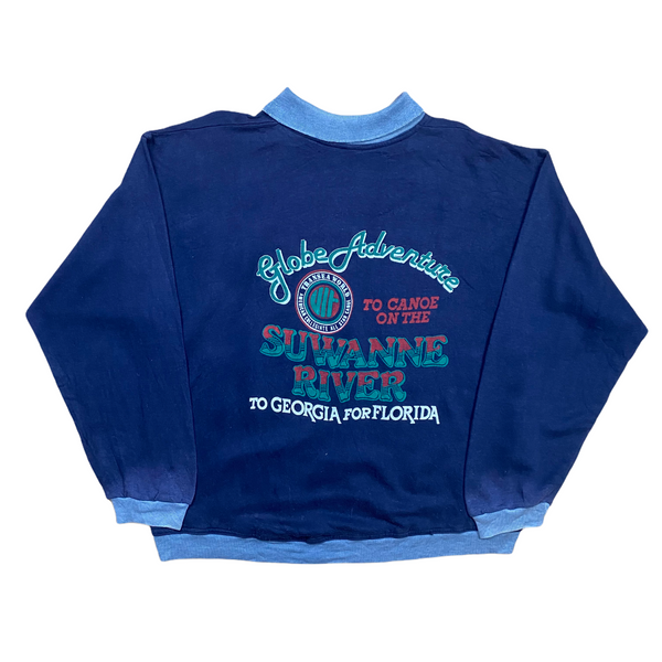 Vintage 80s Globe Adventure Sweatshirt (XL)