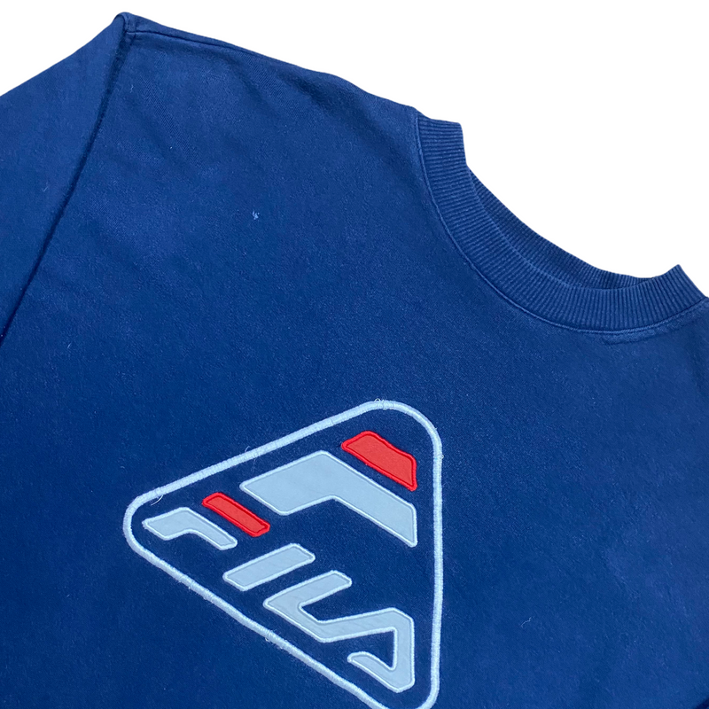 Vintage Fila Spell Out Sweatshirt (XL)