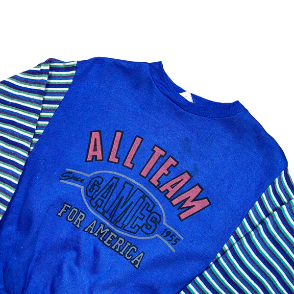 Vintage 80s All Team Games Cropped Sweatshirt (XS)