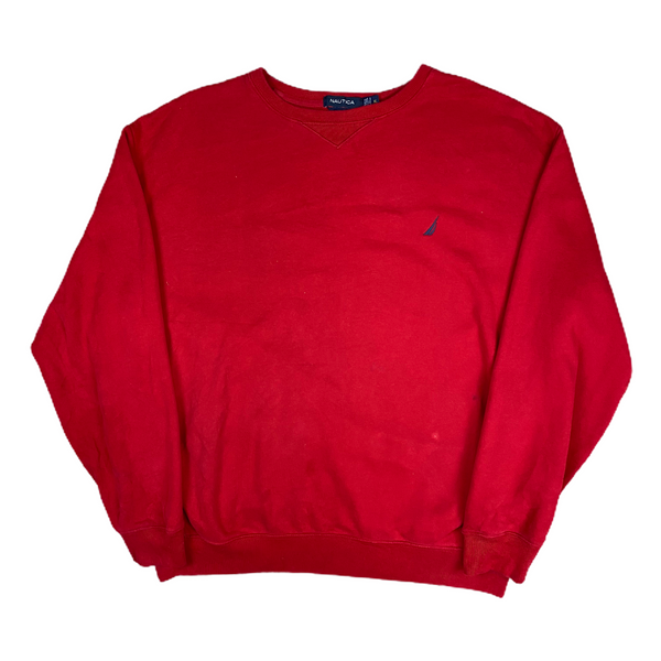 Vintage Nautica Red Sweatshirt (XL)