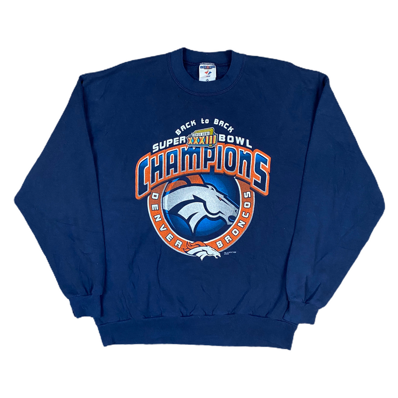 Vintage 1998 Denver Broncos Super Bowl Sweatshirt (XL)