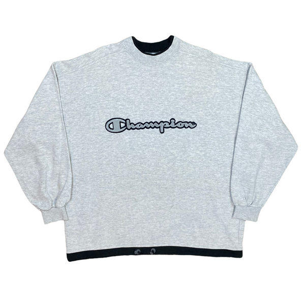 Vintage Champion Embroidered Spell Out Sweatshirt (XL)