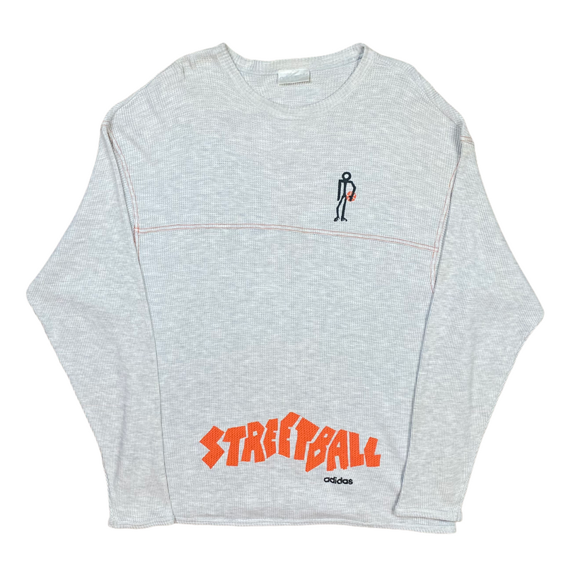 Vintage Adidas Street Ball Knitted Sweatshirt (XL)
