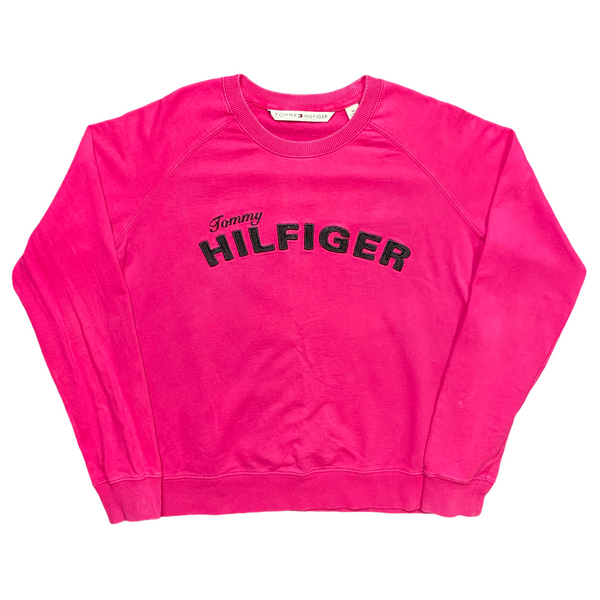 Vintage Women's Tommy Hilfiger Spell Out Sweatshirt (M)