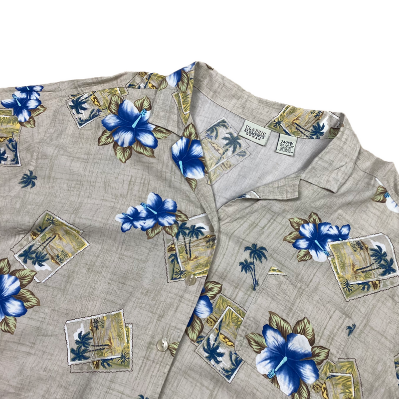 Vintage Women's Hawaiian Shirt (XL)
