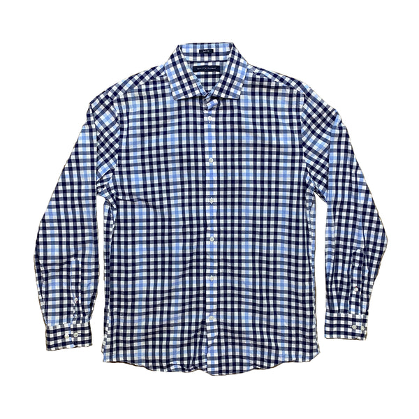 Vintage Tommy Hilfiger Blue Checkered Shirt (S)