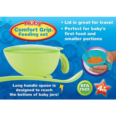 Nuby Comfort Grip Feeding Set
