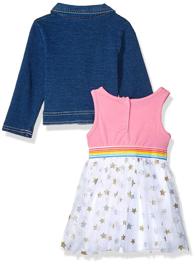 Juicy Couture Girls 12-24 Months Denim Jacket Dress Set