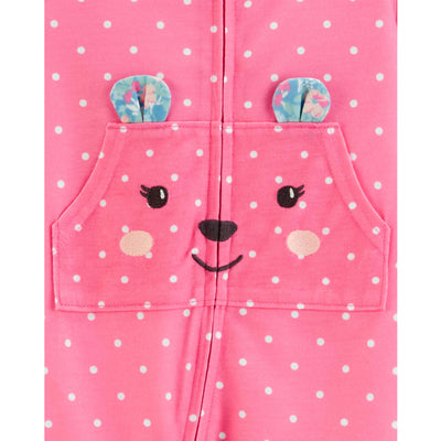 Carters Girls 12-24 Months Bear Pocket Sleeper