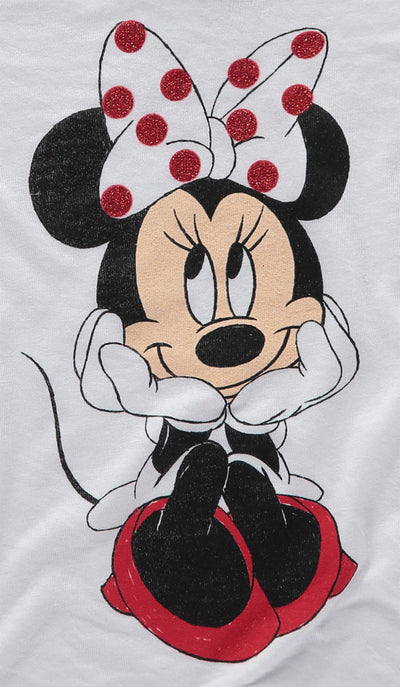 Disney Girls 4-6X Minnie Mouse Drawn Out Tee