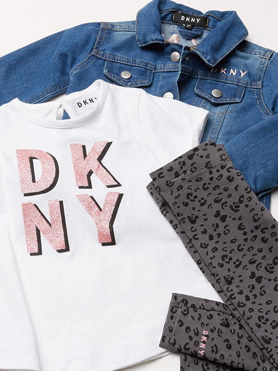 DKNY Girls 2T-4T 3-Piece Jacket Legging Set