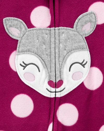 Carters Girls 12-24 Months Deer Microfleece Blanket Sleeper