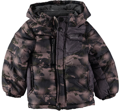 London Fog Boys 4-7 Panel Puffer Jacket with Hat
