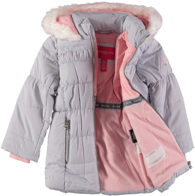 London Fog Girls 4-6X Fur Sparkle Parka Jacket