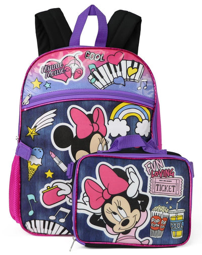Disney Girls Minnie Mouse Backpack Lunch Box Set