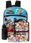 Nintendo Super Mario Brothers Backpack 5-Piece School Supplies