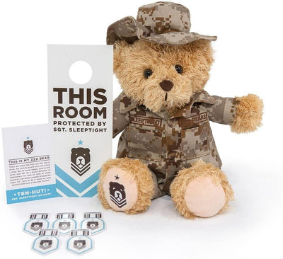 ZZZ Bears Sgt. Sleeptight Teddy Bear