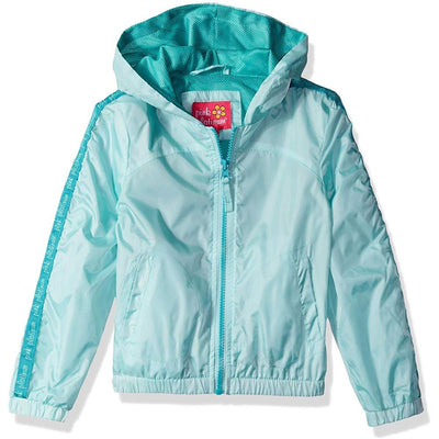 Pink Platinum Girls' 7-16 Printed Windbreaker Jacket with Mesh Lining