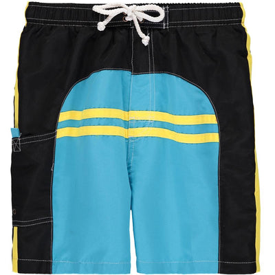 Quad Seven Boys 4-7 Piped Swim Trunk