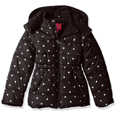 Pink Platinum Girls 4-6X Metallic Star Puffer Jacket
