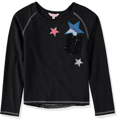 Delias Girls 4-6X Star Sequin Pocket Raglan Shirt