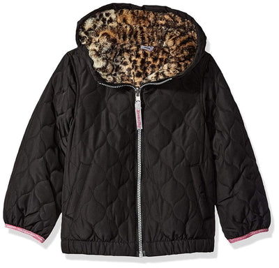 London Fog Girls 7-16 Reversible Quilted Jacket
