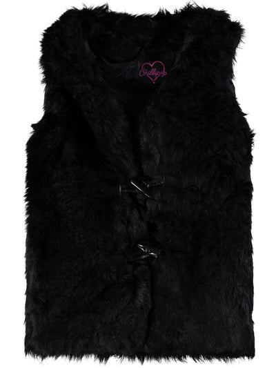 Chillipop Girls 4-6X Toggle Faux Fur Vest