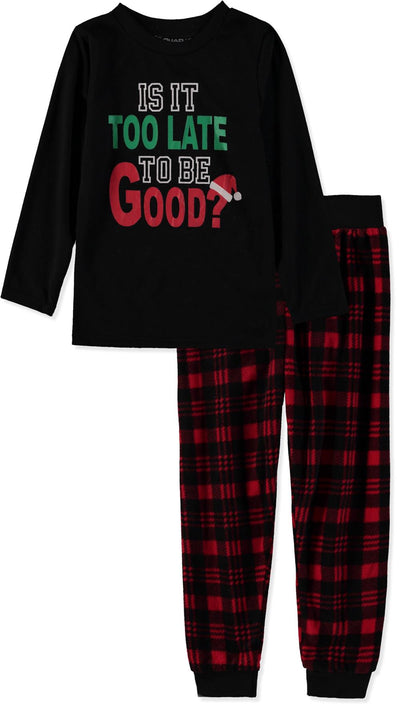Quad Seven Boys 4-7 Plaid Christmas Pajama Set