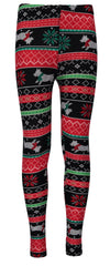Derek Heart Girls 7-14 Holiday Dog Legging