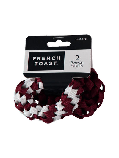French Toast Girls 2-Piece Braided Shoelace Ponytail Holder