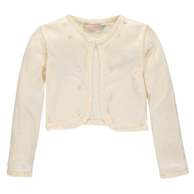 Sophie and Sam Girls 2T-4T Pearl Scallop Shrug Cardigan Sweater