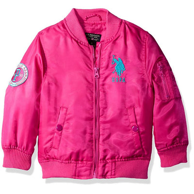 U.S. Polo Assn. Girls 4-6X Flight Jacket