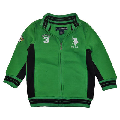 U.S. Polo Association Boys 2T-4T Mock Neck Track Jacket