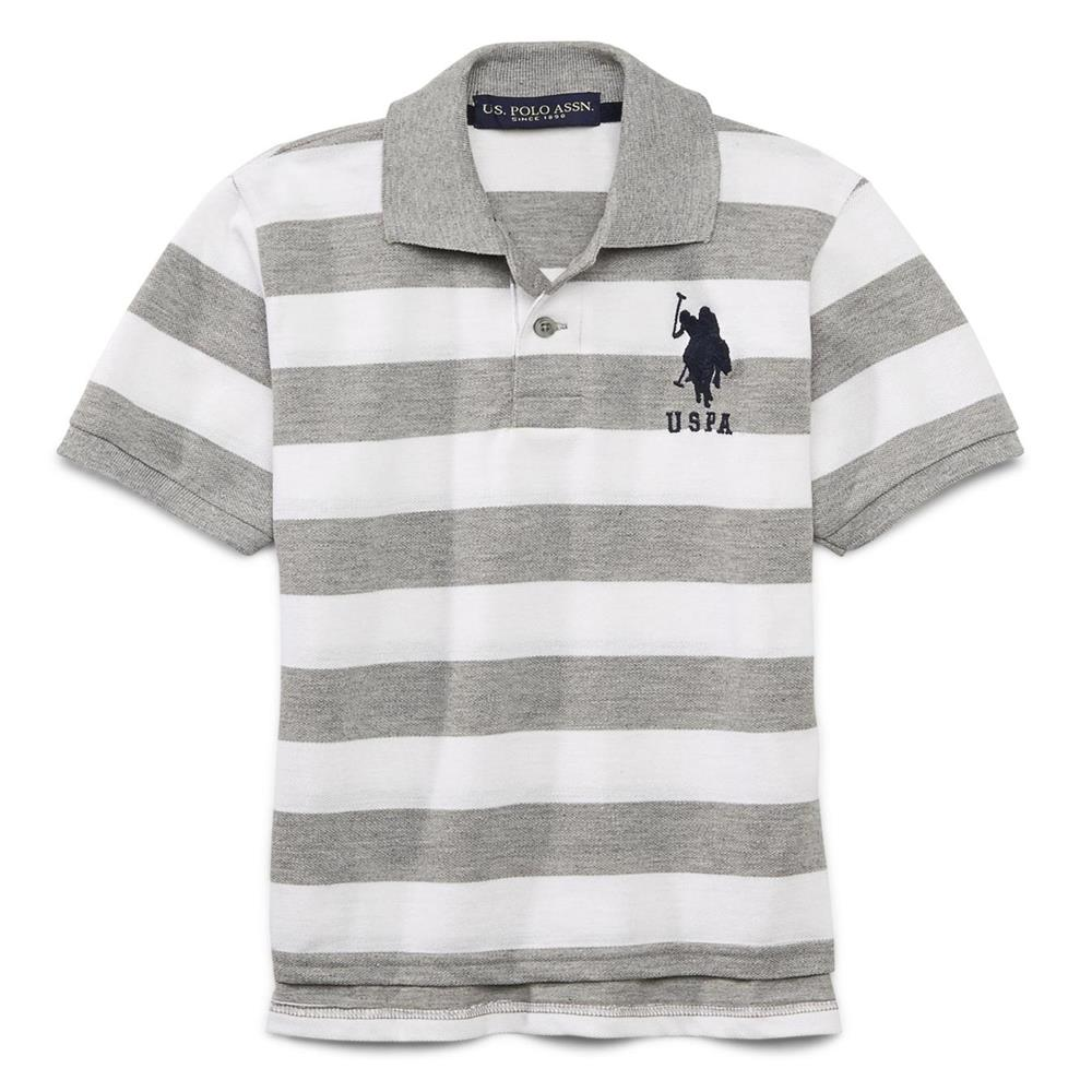 U.S. Polo Association Boys 2T-4T Stripe Rugby Polo
